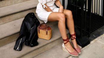 Espadrilles compensées: comment les filles de la mode les portent-elles, selon Pinterest ?